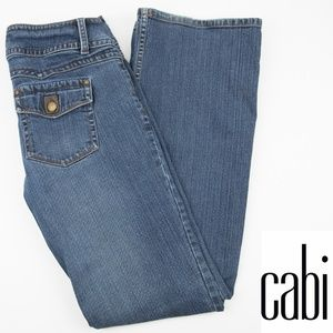 CAbi 895L Contemporary Fit Bootcut Leans 8 Leather